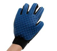 Wholesale True Touch Five Finger Deshedding Glove Pet Grooming Dogs Bath Glove Making Pets Hair Cleanup For All Dogs Cats