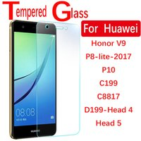Wholesale 9H D mm Tempered glass screen protector film for Huawei honor V9 P8 lite P10 C199 C8817 D199 Head4 Head