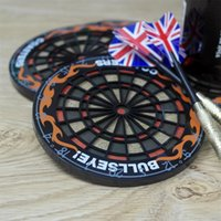 beer mat coaster - Set Hit The Spot Round Bullseye Coasters Dart Board Drink Bottle Beer Beverage Cup Mats