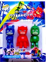 Wholesale PJ MASKS PJMASKS Action Figure Toys cm Catboy Owlette Gekko Cloak Plastic Vinyl Dolls with BB Sound Christmas Gift for Boy
