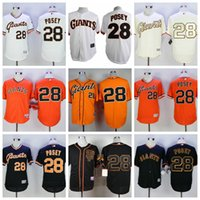 Men best buster - 2017 Men San Francisco Giants Buster Posey Elite game version Baseball Jerseys Best quality Mix Order