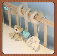 baby stroller sets - Cute Bear Rabbit Infant Babyplay Activity Spiral Bed Stroller Toy Set Hanging Bell Crib Cot Spiral Rattle Toys for Baby Kids