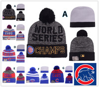 Wholesale NEW HOT Sport KNIT MLB CHICAGO CUBS Baseball Club Beanies Team Hat Winter Caps Popular Beanie Fix Cheap Gift Present