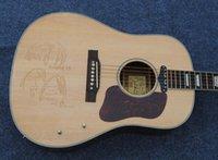 Wholesale In stock Nature color John Lennon CE acoustic electric guitar