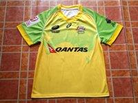 australian football jersey - 2016 new AUSTRALIAN SEVENS RUGBY JERSEY Yellow Green Football Shirt