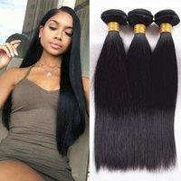 7A Peruvian Weave Hair Extensions Cheveux péruviens 3pcs beaucoup Peruvian Straight Virgin Cheveux Extensions Weft Remy Couleur Naturelle Peut être Teints
