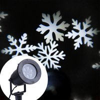 ac moving - Christmas Snowflake Lights for Indoor Outdoor Moving White Snowflakes Light Lamp Spotlight Led Landscape Projection Lights Wall Decoration