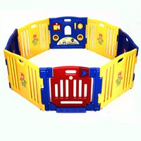 Rubber Yellow 0 New Baby Playpen Kids 8 Panel Safety Play Center Yard Home Indoor Outdoor Pen