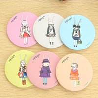 Wholesale Cartoon Mirrors New cute fifi lapin hand make up Mirror portable pocket cosmetic mirror Fashion