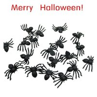 best halloween jokes - Best Seller PC Halloween festival funny Realistic Plastic Black Spider Joking Toys for kids or decoration Aug3
