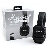 beat studios - Marshall Major II Bluetooth Wireless Headphones in Black DJ Studio beat Headphones Deep Bass Noise Isolating headset for iphone Samsung