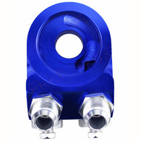 Wholesale AN10 Aluminum Oil Cooler Adapter Sandwish Oil Filter NPT Outlet x14 Thread In stock and ready to ship