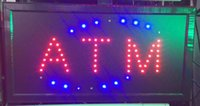 atm cash machines - 10 inch Animated Motion LED Business ATM Machine Sign On off Switch Open Light Neon Cash