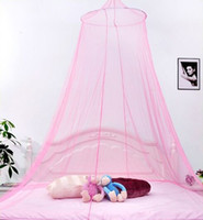 Wholesale Lace Bedding Net Mosquito Netting Mesh Canopy Princess Round Dome Net MultiColor