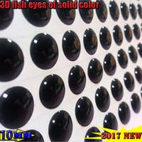 2017new el pescado de la pesca 3d eyes el proceso de caída perfecto el mejor tamaño de los ojos de pescados: 4-5-6-8-10MM quntily: 1000pcs / lot COLOR: NEGRO