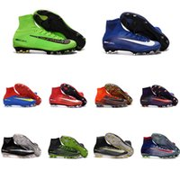 Wholesale 2016 Hot Sale Original Mercurial Superfly FG Soccer Cleats Superfly V AG High Ankle Football Boots Cleats Mercurial Soccer Shoes