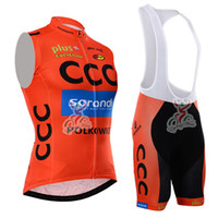 Wholesale Short Cycling Kit CCC SPRANDI Bike Jersey Bib Shorts with Gel pad Short Sleeve Bicycle wear maillot ciclismo