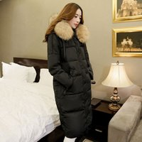 Wholesale Parkas For Women Winter Long Coat Large Raccoon Fur Collar Thickening Duck Down Jacket Outerwear Female Snow Wear new arrival