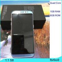 Goofón S8 borde Android 6.0 Smartphone 64bit 3G WCDMA Teléfonos Celulares Quad Core 1GB de RAM 8GB ROM Mostrar 64Gb Falsa 4g lte GPS Celular