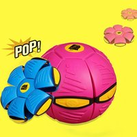 Wholesale New magic light flying saucer shape change vent ball child outdoor toys