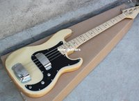 bass bridge black - Burly Wood string Electric Bass Guitar with Black Pickguard Maple Fingerboard Bridge with coverOffer Customized