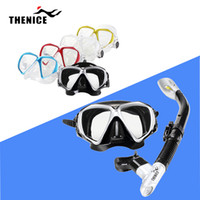 Wholesale 5 Color Snorkeling Diving Gear Scuba Snorkel Mask Dive Equipment Myopic Optical Fog Proof Toughened Glass Lens Goggles with Tube