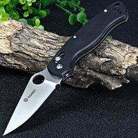 Wholesale Original outdoor camping hunting survival Ganzo G729 BK Folding Knife C Blade G10 Handle G729 w Pouch