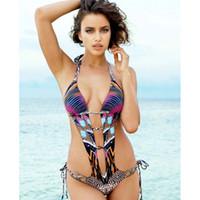 Wholesale 2017 Hot Sale High Cut Swimwear One Piece Swimsuit Women Deep V Neck Monokini Bodysuit Summer Beachwear Femal Bathing Swim Suit