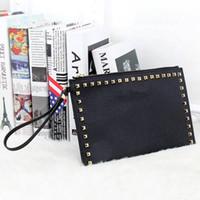 Wholesale New Fashion Style PU Leather Handbag Famous Brand Retro Rivet Tote Bag Lady wallet Clutch Female Purse Evening Necessaries Bag