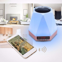 aux lamp - Multi color LED bedside lamp subwoofer Wireless Bluetooth speakers Alarm Clock with TF AUX MP3 Colorful speakers