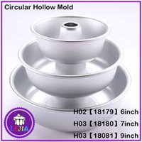 Wholesale New inch Aluminum Alloy Anodizing circular hollow mold cake mold