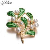 accessories shop online - Online Shopping Brooches For Women Simulated Pearl Enamel Green Leaf Pins Brooch Clothes Sweater Accessories Friendship Gift