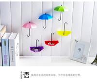 Wholesale 30Pcs Umbrella Shape Cute Self Adhesive Wall Door Hook Hanger Bag Keys Bathroom Kitchen Sticky Holder