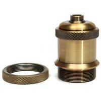 Wholesale Retro Vintage Screw Aluminium Light Sockets Keyless Lamp Holder For E27 Bulbs Tools