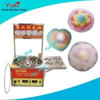 Wholesale 2017 Popular Cotton Candy Maker Fancy Flower Shape Candy Floss Machine Electric Automatic Cotton Candy Machine