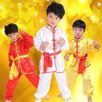 art costumes - 2016 New Products Hot Products Children s Long Sleeve Martial Arts Performance Costume Kung Fu Performance Traditional Ethnicity Free Shoppi