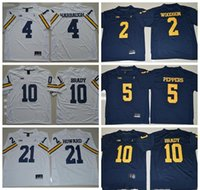 Rugby Men Short 2017 Michigan Wolverines Jerseys 5 Jabrill Peppers 4 Jim  Harbaugh 10 Tom Brady afe603002