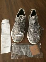 Unisex Cotton Fabric EVA Good Quality Kanye West 350 Boost Running Shoes Men's Run Shoes Women's Sneakers Moonrock Oxford Tan Black Original Socks+Bag+Receipt+Box