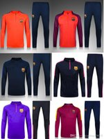 barcelona kits - Top quality kits Barcelona Training Football Training suit long sleeve Soccer tracksuit whit pants