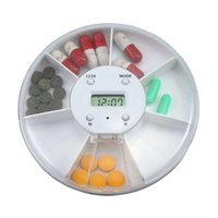 Wholesale Portable Grids Electronic Timed Reminder Medical kit Multifunction Medical Drug Box Container Pill Case With LED Timer Alarm