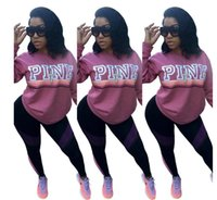 Wholesale New print Pink Letter Bts sexy Hoodie Women Casual Hip Hop Hoody Tops Pullover Streetwear Harajuku Tracksuit Sweatshirt top clothing