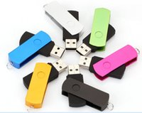 Wholesale Large rotating metal aluminum shell Flash Drive GB GB GB GB GB GB Metal USB Rotating Memory Stick Swivel Thumb Drive