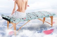 Wholesale Slimming Massage Tabel Folding Relaxing Spa Table Portable Massage Bed within Face Pillow and Side Armrest Extension