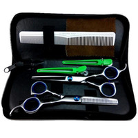 Wholesale Pro quot Salon Barber Hair Cutting Thinning Scissors Shears Hairdressing Set Newest SM65