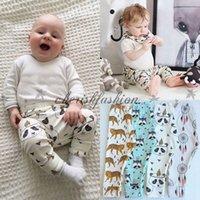 Wholesale INS Trousers for Baby Boys Girls Toddler Animal Fox Tiger Panda Batman Plaid Leggings Toddler Cartoon Harem Pants Kids Clothes Style L321