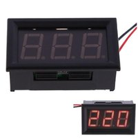 Wholesale High Quality YB27A LED AC V Digital Voltmeter Home Use Voltage Display w Wires Red Shipping