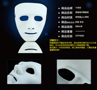 best scary costumes - Best price Scary White Face Halloween Masquerade DIY Mime Mask Ball Party Costume Masks