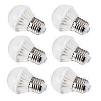 Wholesale 6pcs Pack E27 W lm Globe Daylight White LED Mini Ball Bulbs Energy Saving Lamps AC100 V