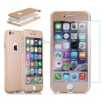 apple protect - For Iphone Screen Protection Degree Protect Case Tempered Glass Colorful Fashion Case For Iphone Plus iPhone plus Retail Package