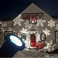Wholesale Snow Flake Projector Waterproof Moving Snow Laser Projector Lamps Snowflake LED Stage Light For Christmas Party Light Garden Lamp